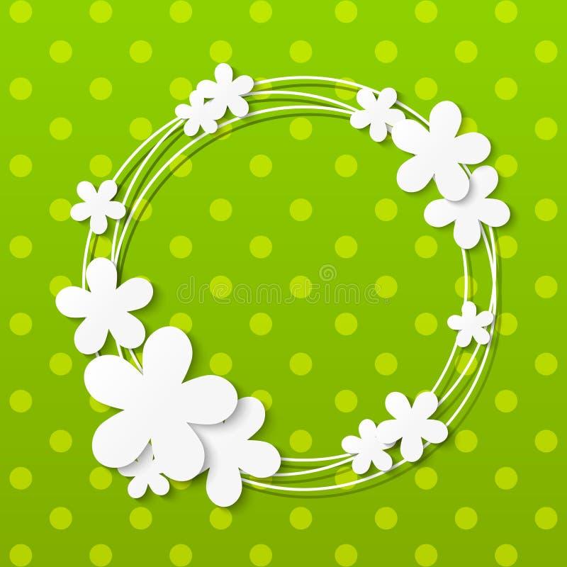 Marco de las flores de papel libre illustration