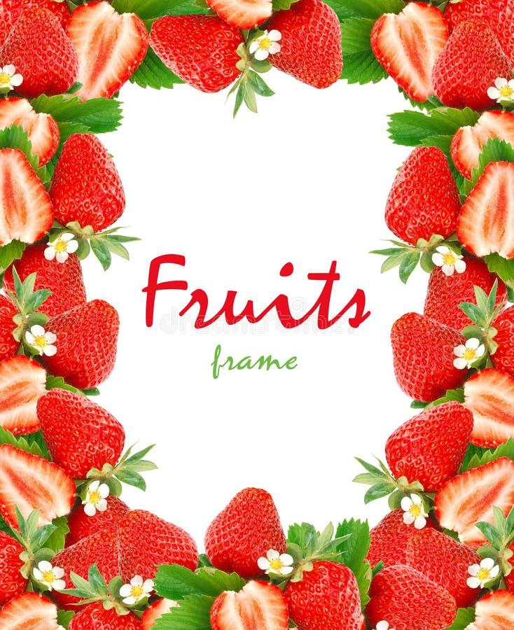 Marco de las fresas fotos de archivo libres de regalías