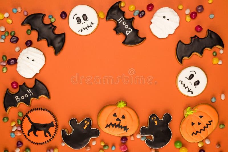 Marco de las galletas de Halloween imagen de archivo