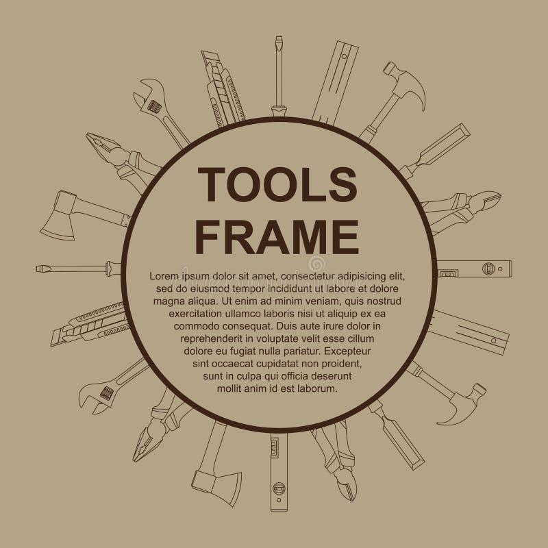 Marco de las herramientas ilustración del vector
