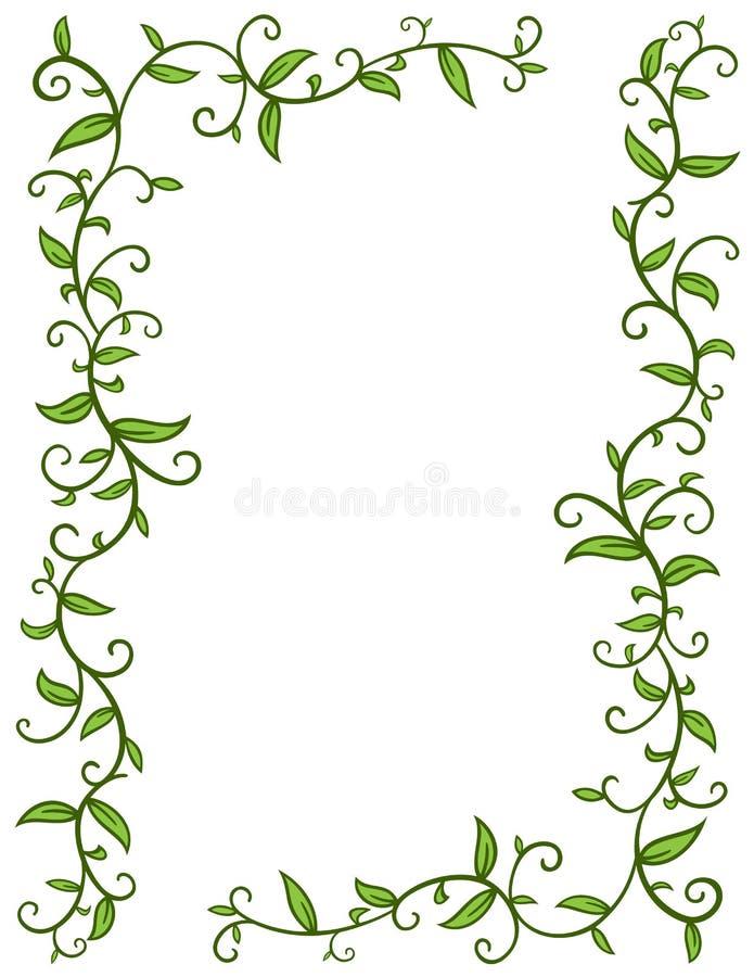 Marco de las hojas stock de ilustración