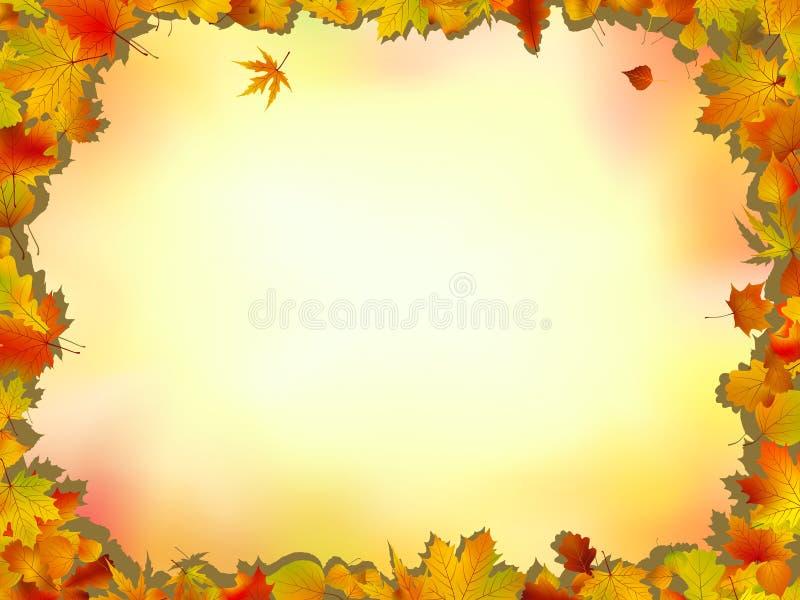 Marco de las hojas del arce y del roble libre illustration