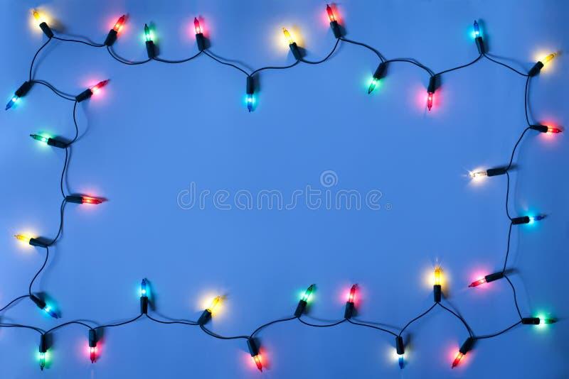 Marco de las luces de la Navidad fotos de archivo libres de regalías