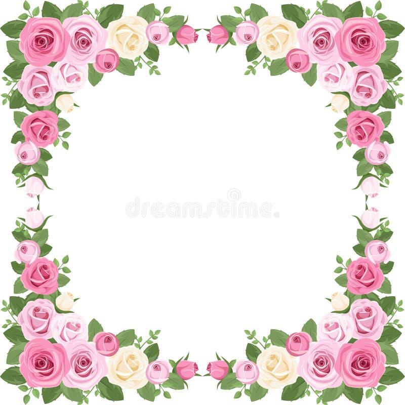 Marco de las rosas del vintage. ilustración del vector