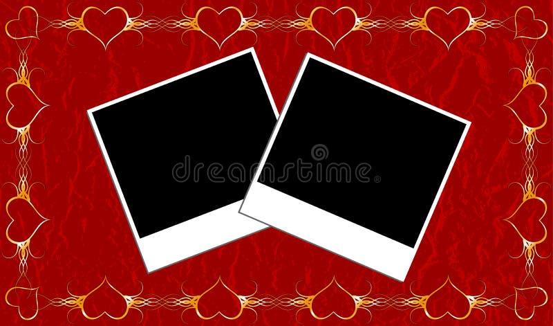 Marco de las tarjetas del día de San Valentín libre illustration