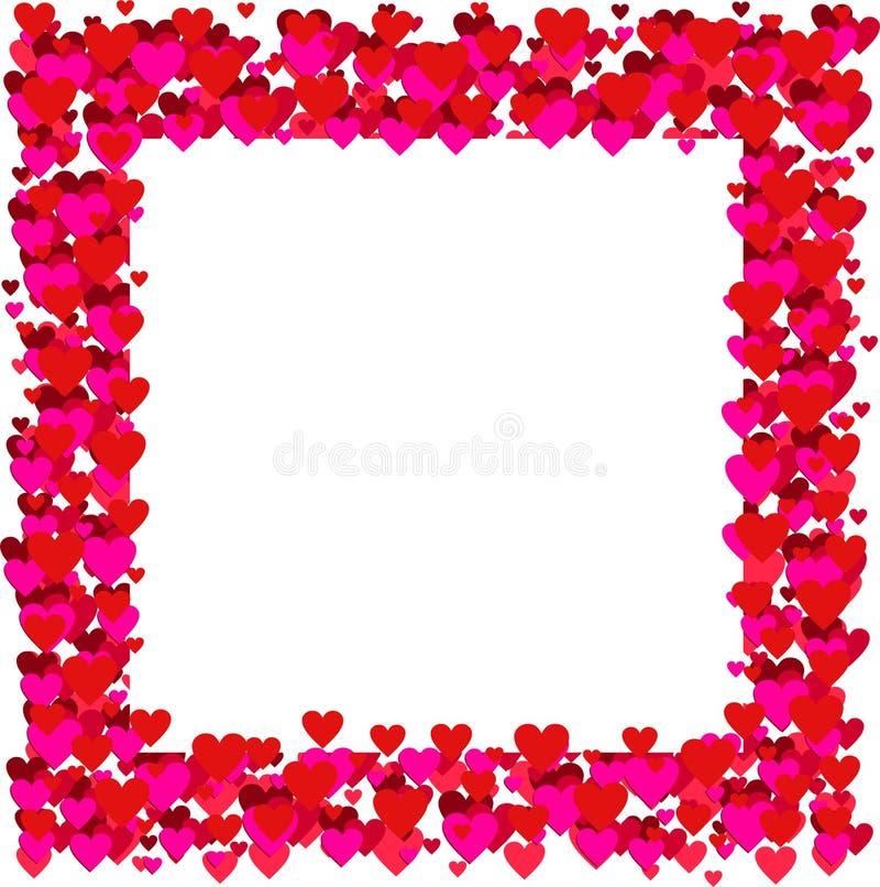 Marco de las tarjetas del día de San Valentín - vector ilustración del vector