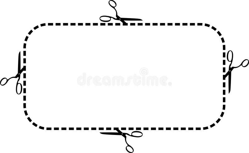 Marco de las tijeras ilustración del vector