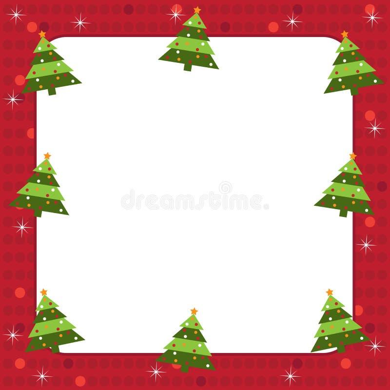 Marco de los árboles de navidad stock de ilustración