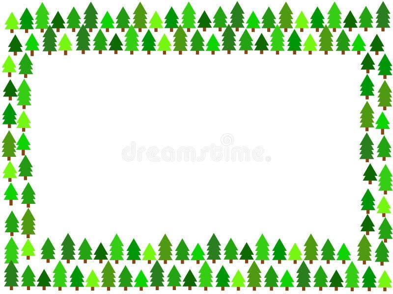 Marco de los árboles de navidad ilustración del vector