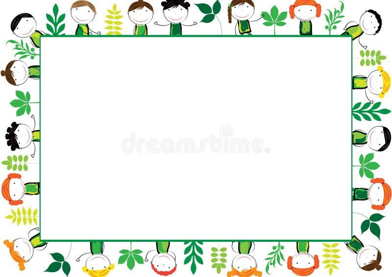 Marco de los cabritos stock de ilustración