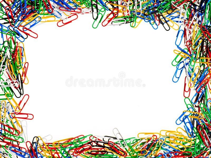 Marco de los clips de papel imagen de archivo