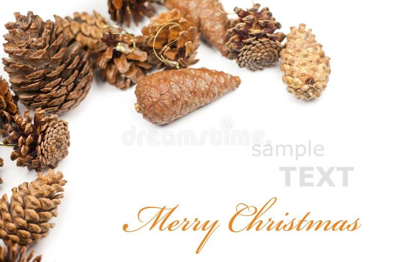 Marco de los conos de la Navidad foto de archivo libre de regalías