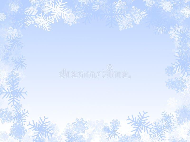 Marco de los copos de nieve: blanco stock de ilustración