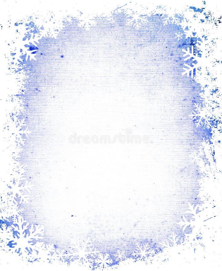 Marco de los copos de nieve de Grunge stock de ilustración
