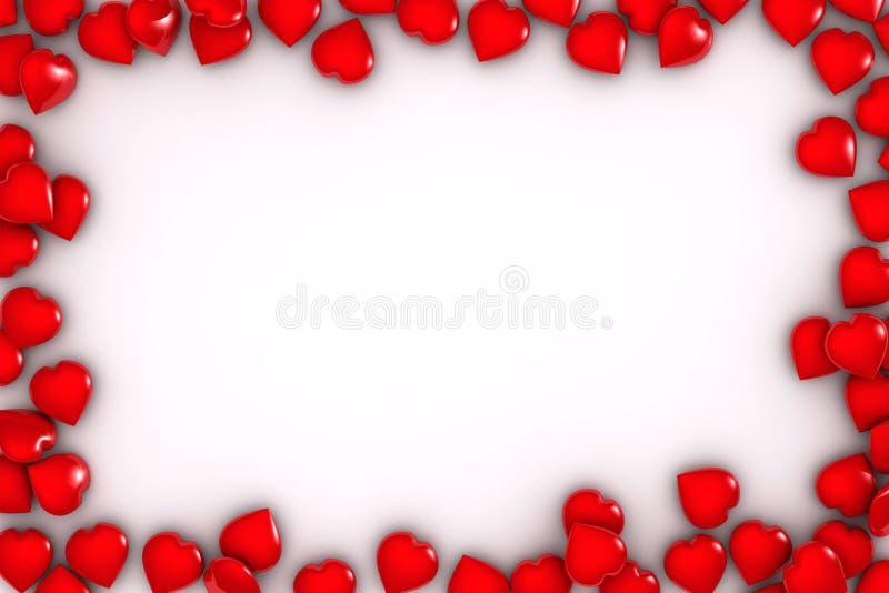 Marco de los corazones ilustración del vector