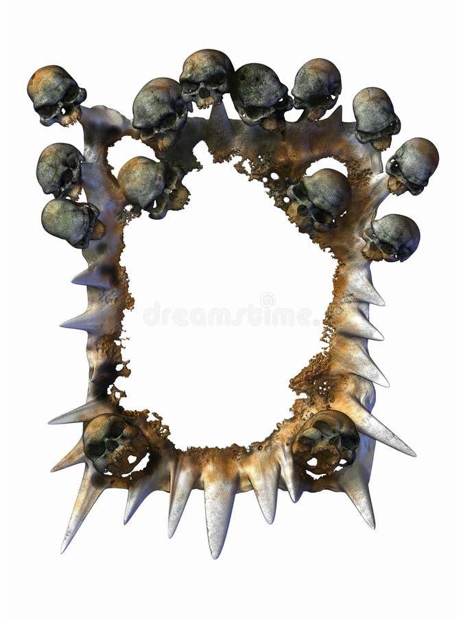 Marco de los cráneos stock de ilustración. Ilustración de tóxico ...