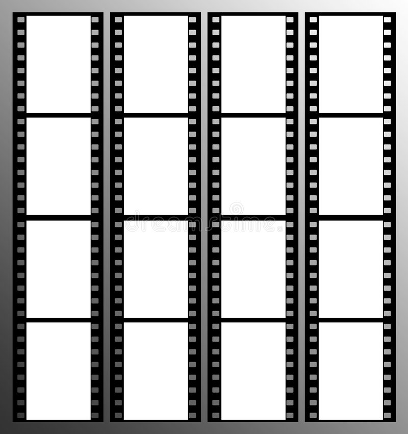 marco de los marcos de la tira de la película de 35m m libre illustration