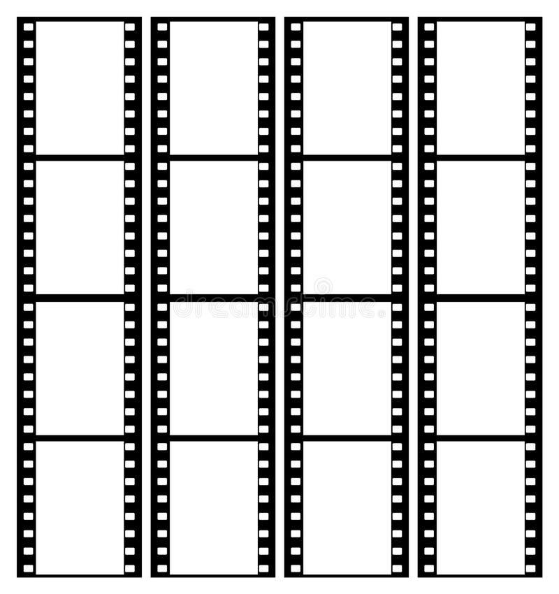 marco de los marcos de la tira de la película de 35m m stock de ilustración