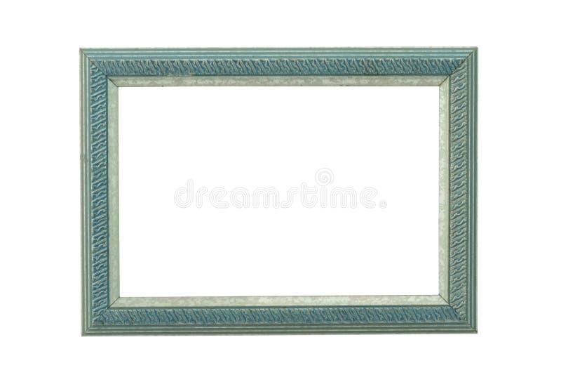 Marco de madera adornado turquesa imagen de archivo libre de regalías