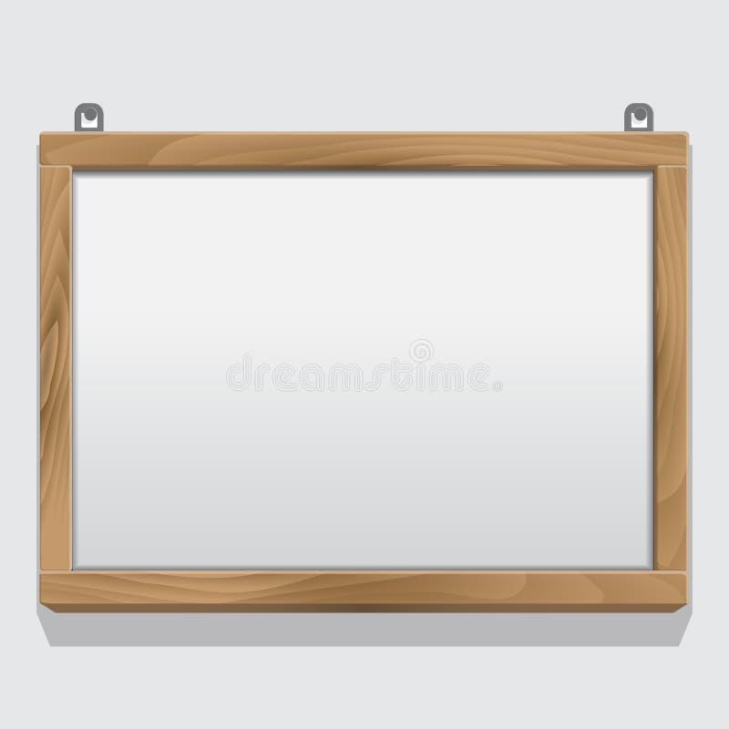 Marco de madera aislado en blanco libre illustration