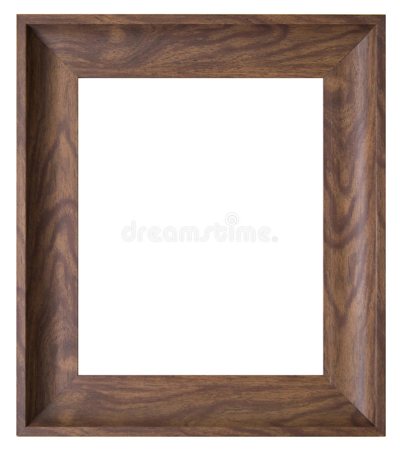 Marco de madera de Brown fotografía de archivo