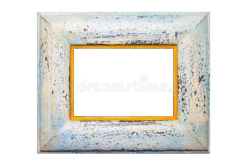 Marco de madera de la foto, aislado imagenes de archivo