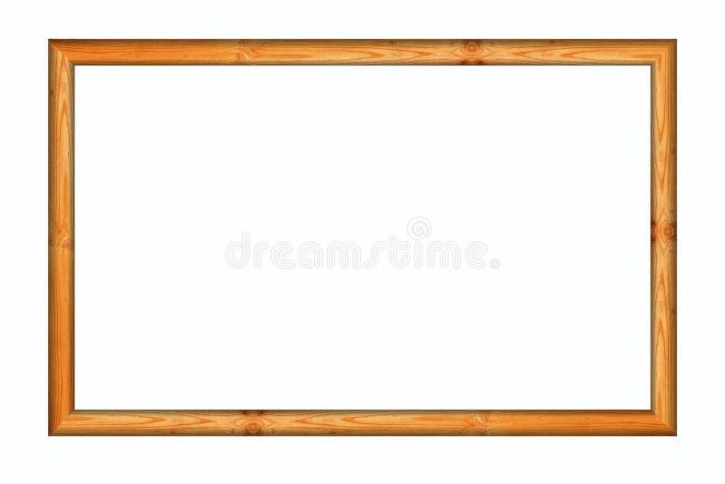 Marco de madera de la foto en blanco imagenes de archivo