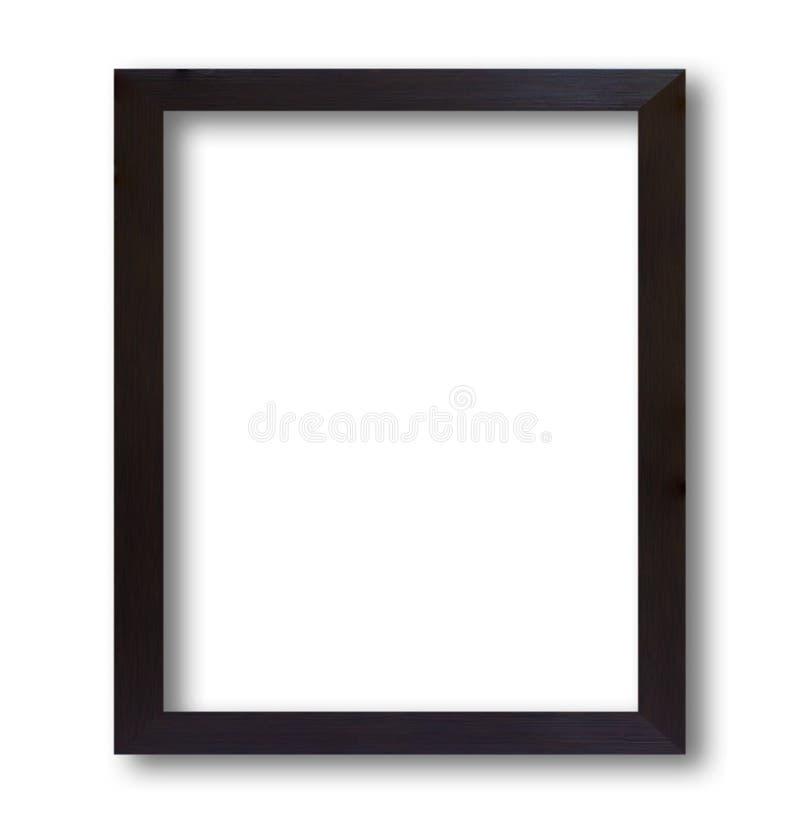 Marco de madera negro aislado en el fondo blanco fotos de archivo libres de regalías