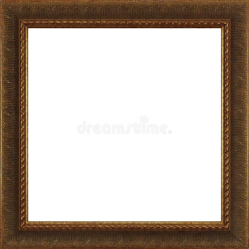 Marco de madera oscuro del oro/de Brown imágenes de archivo libres de regalías