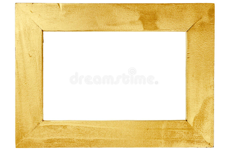 Marco De Madera Pintado Con Oro Imagen de archivo - Imagen de golden ...