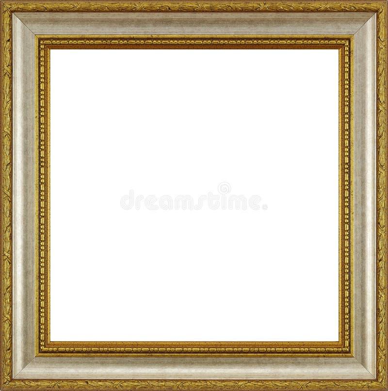 Marco de madera de plata del oro imagen de archivo