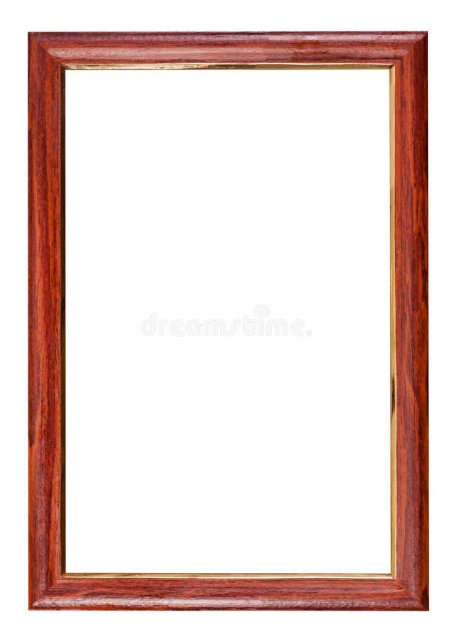 Marco de madera rojo marrón vertical imagenes de archivo
