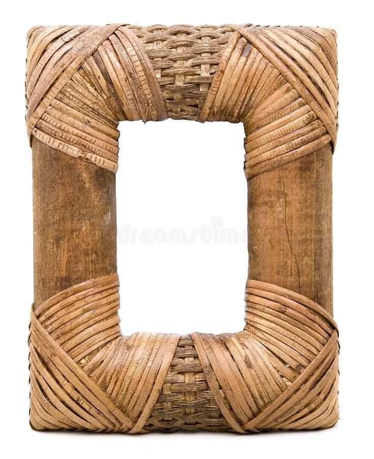 Marco de mimbre imagen de archivo. Imagen de cuadros - 12097535