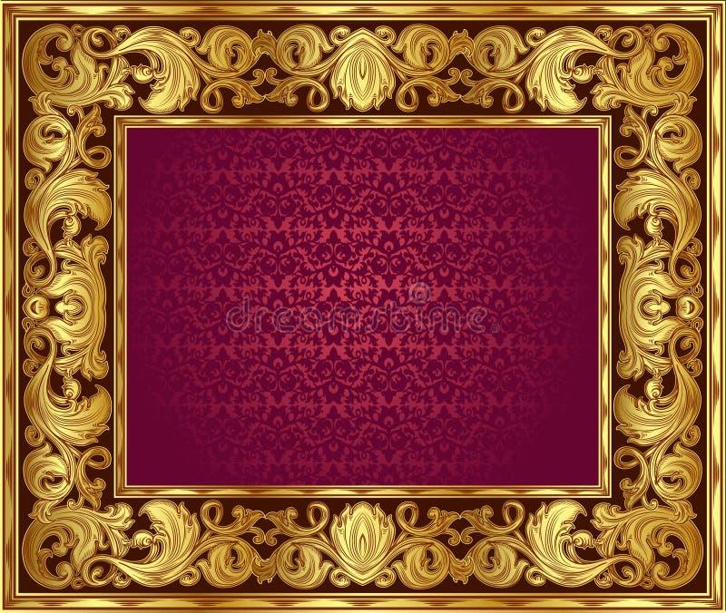 Marco de oro ilustración del vector