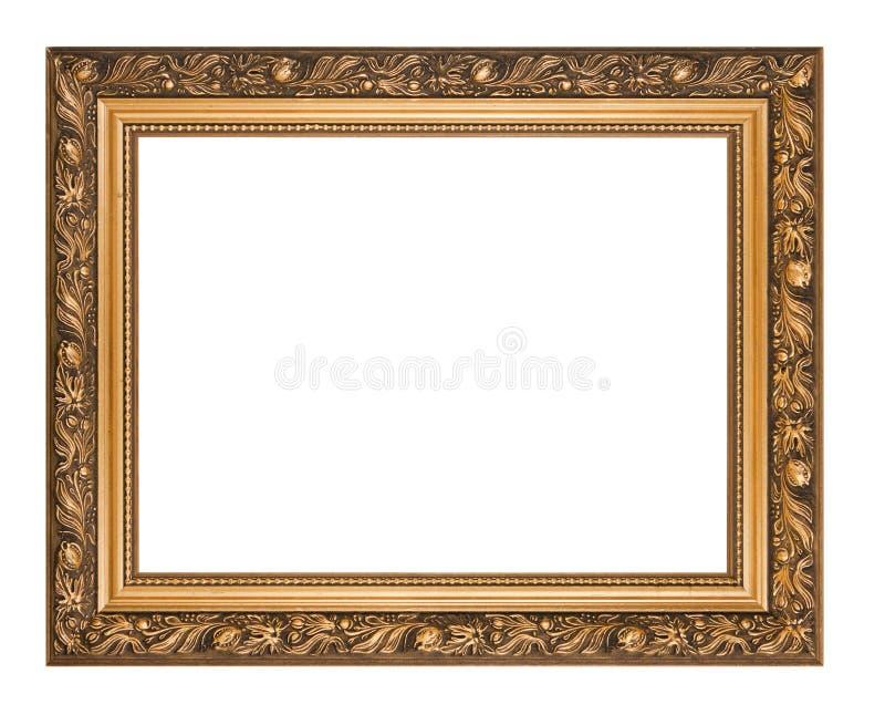 Marco de oro aislado foto de archivo libre de regalías