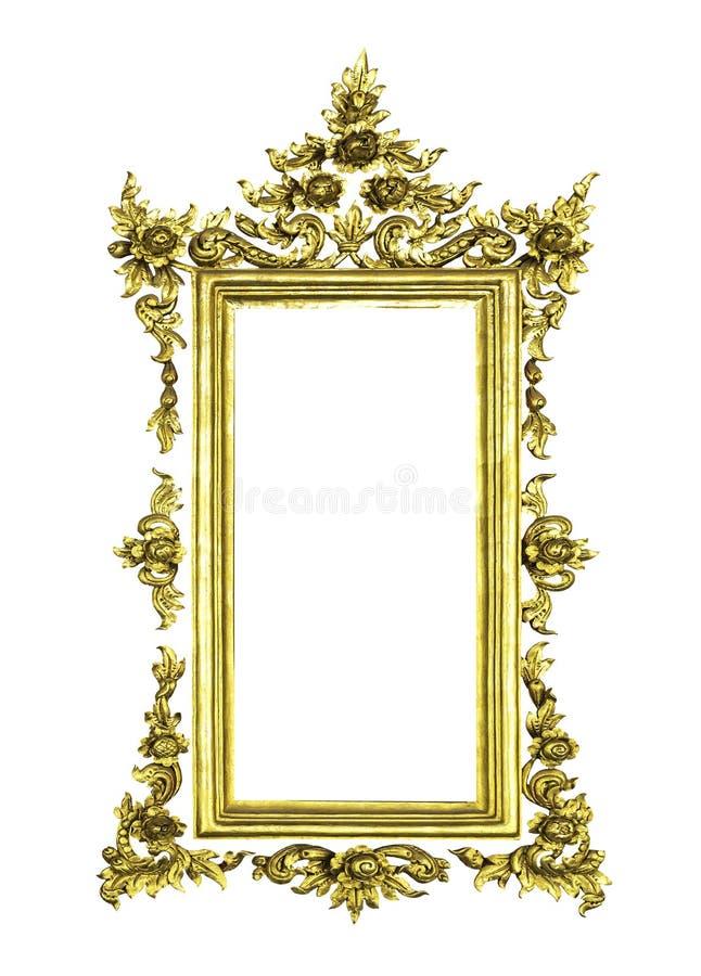 Marco De Oro Antiguo Aislado Imagen de archivo - Imagen de vacío ...
