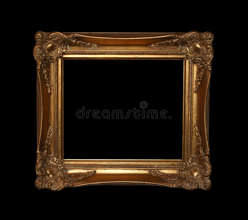 Marco de oro con el camino imagen de archivo libre de regalías