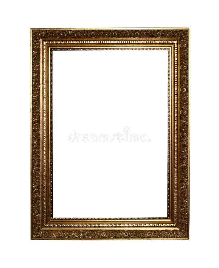 Marco de oro con el camino de recortes foto de archivo libre de regalías