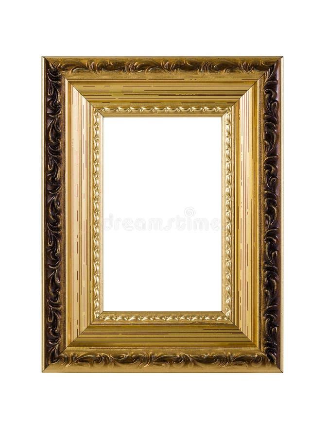 Marco de oro con el camino de recortes foto de archivo