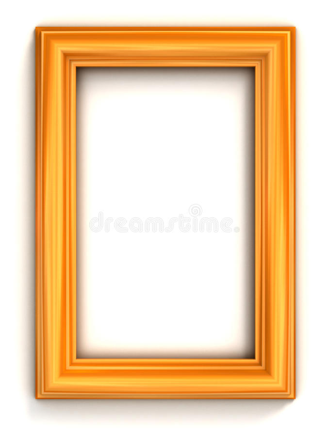 Marco de oro de la foto ilustración del vector