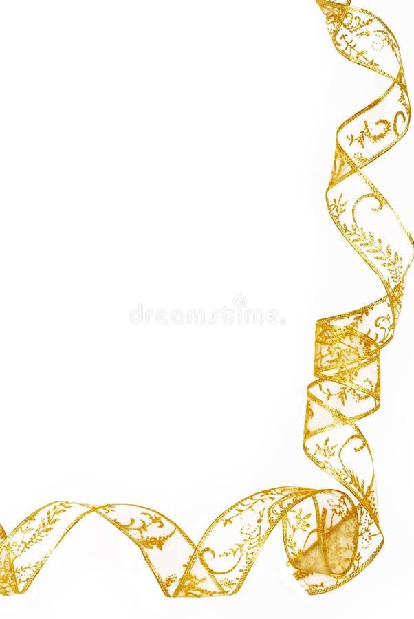 Marco de oro de la frontera de la cinta aislado imagen de archivo
