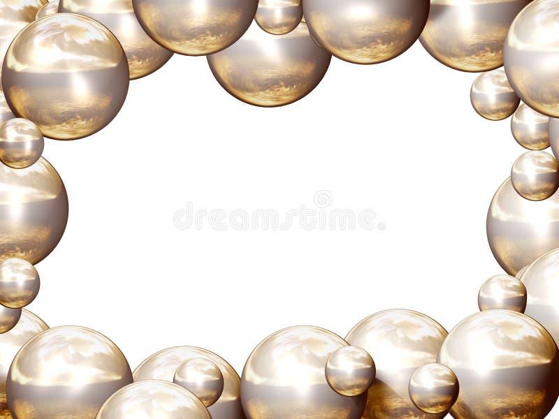 Marco de oro de las bolas stock de ilustración