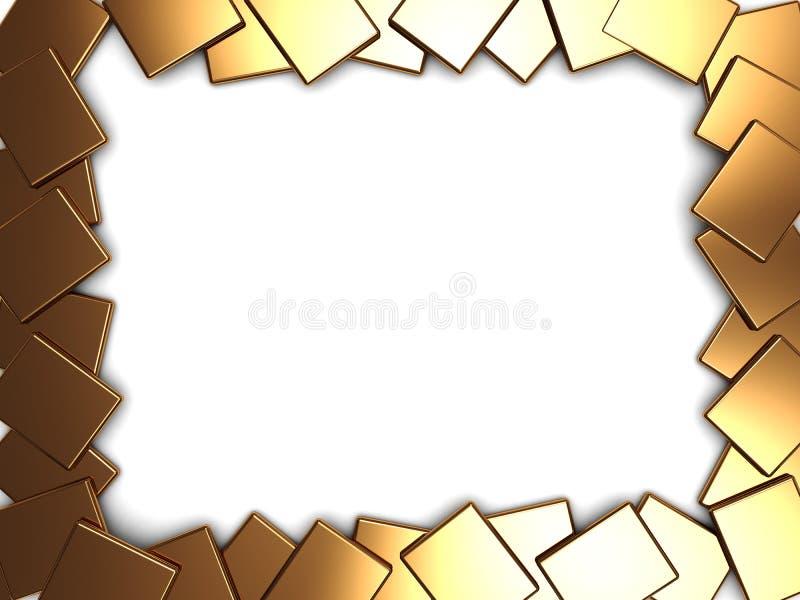 Marco de oro de las placas stock de ilustración