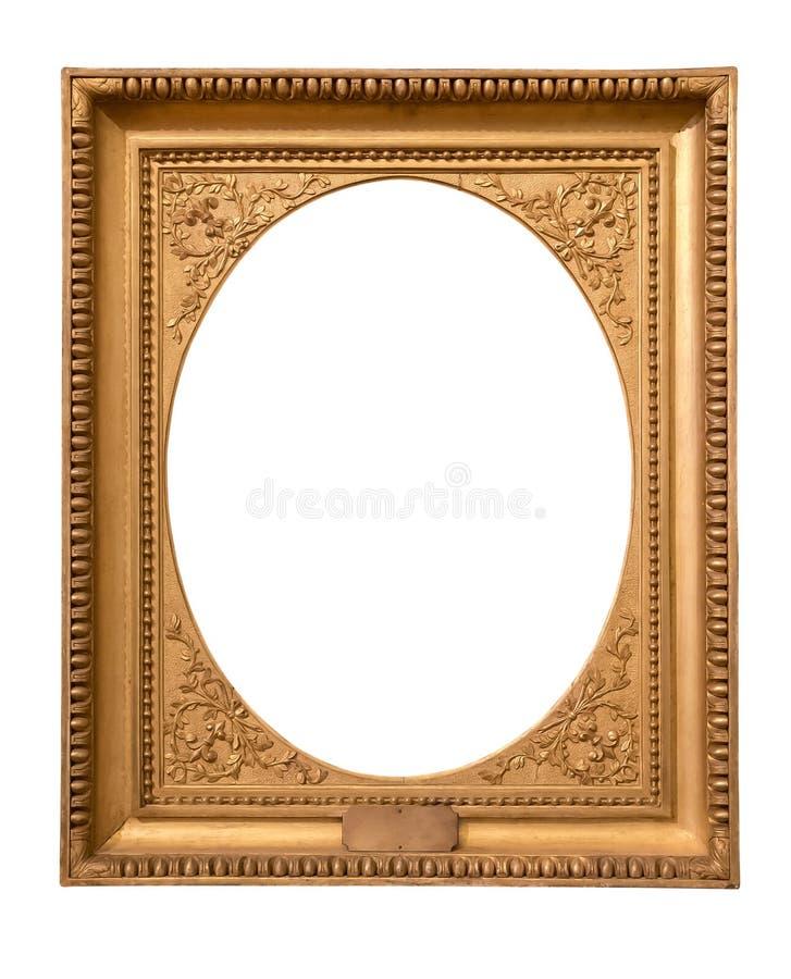 Marco De Oro Decorativo Del Rectángulo Foto de archivo - Imagen de ...