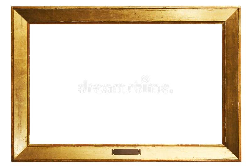 Marco de oro simple con el camino fotografía de archivo