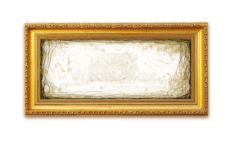 Marco de oro sucio fotografía de archivo libre de regalías