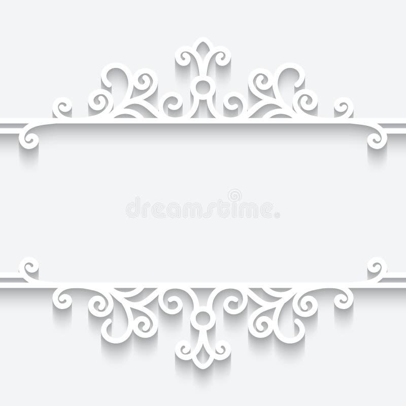 Marco de papel ornamental libre illustration