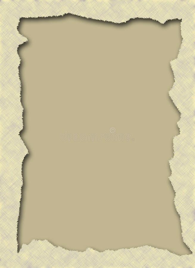 Marco de papel rasgado ilustración del vector