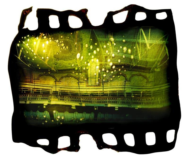 Marco de película fotográfica derretido foto de archivo libre de regalías