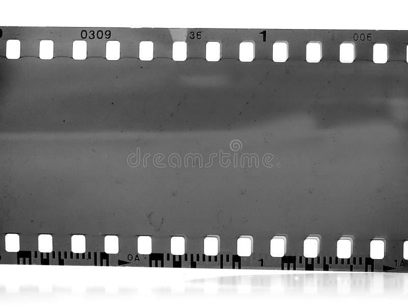marco de película negativa blanco y negro del vintage 35m m imagenes de archivo